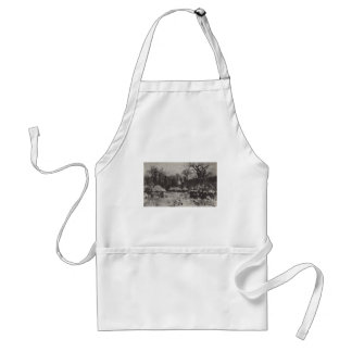 Isaac Levitan- Village Early spring Aprons