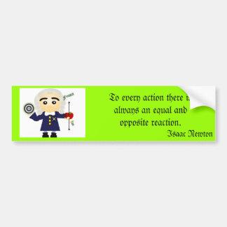 Isaac Newton Car Bumper Sticker