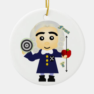 Isaac Newton Christmas Ornament