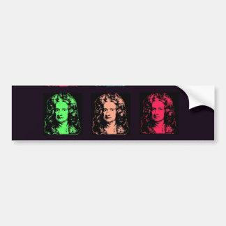 Isaac Newton Collage Bumper Sticker