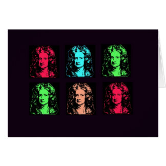 Isaac Newton Collage Card