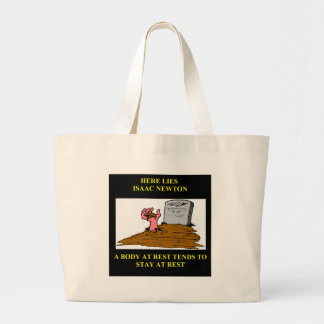 isaac newton joke canvas bags