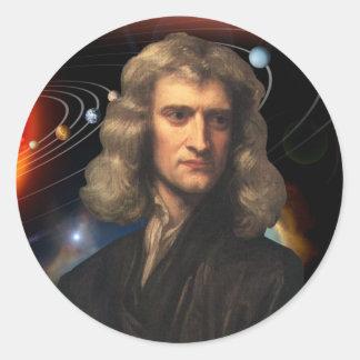 Isaac Newton Round Sticker