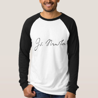 Isaac Newton Signature T-Shirt