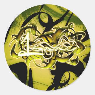 Isaac Round Sticker