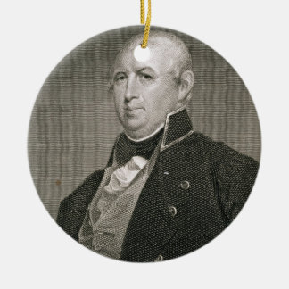 Isaac Shelby (1750-1826) engraved by Asher Brown D Christmas Ornament