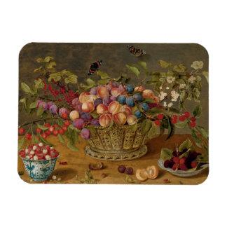 Isaak Soreau Painting of Fruits Magnet