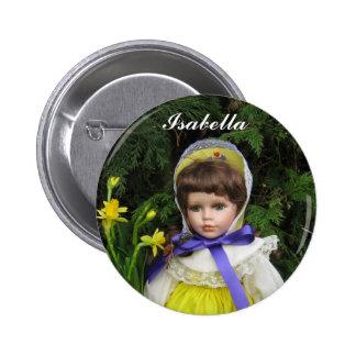 Isabella 6 Cm Round Badge