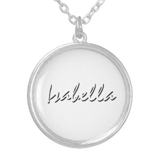 Isabella accessories round pendant necklace