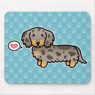 Isabella And Tan Dapple Long Coat Dachshund Dog Mouse Mat