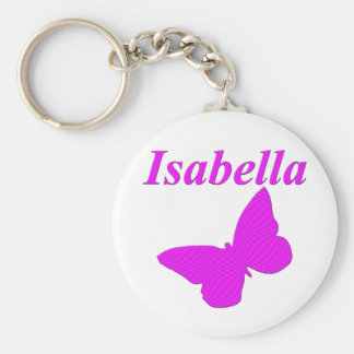 Isabella Basic Round Button Key Ring