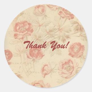 Isabella Floral Envelope Seal Round Sticker