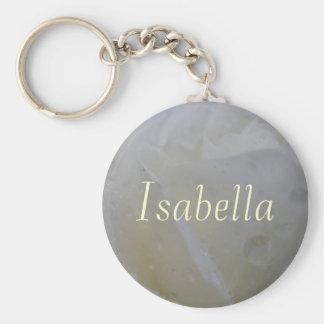 Isabella Basic Round Button Key Ring