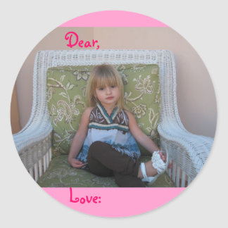 Isabella Lounging Classic Round Sticker