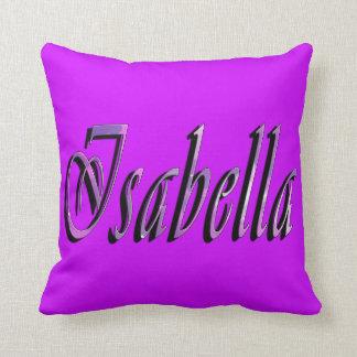 Isabella, Name, Logo, Girls Purple Throw Cushion
