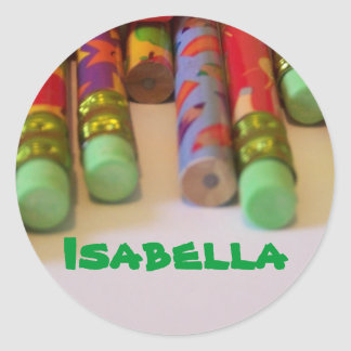Isabella name stickers