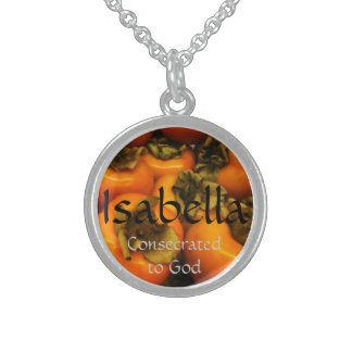 Isabella Round Pendant Necklace