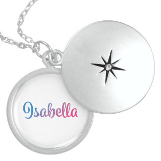 Isabella Stylish Cursive Sterling Silver Necklace