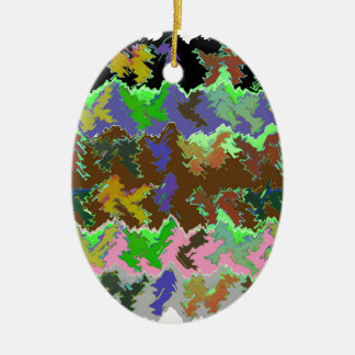 ISABELLA  - Wild Green Art from Naveen Christmas Ornament