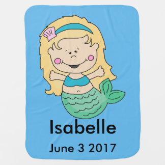Isabelle's Personalized Mermaid Baby Blanket