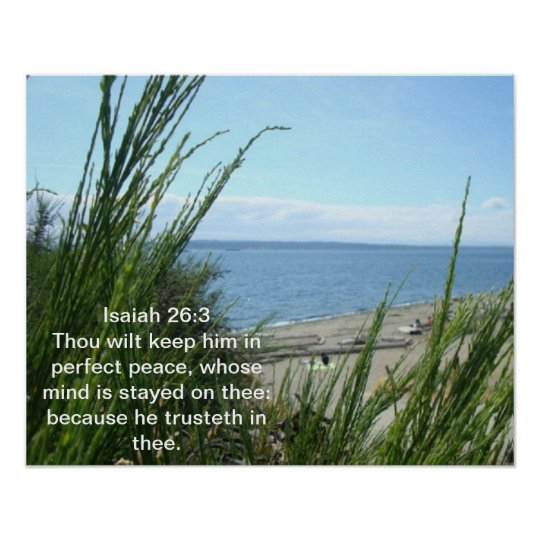 Isaiah 26:3 Poster