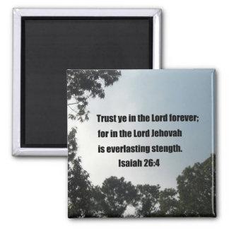 Isaiah 26:4 refrigerator magnet