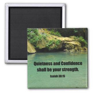 Isaiah 30:15 square magnet