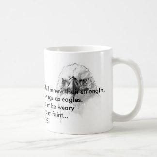 Isaiah 40:31 basic white mug