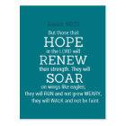 Isaiah-40-31 Bible Scripture Postcard
