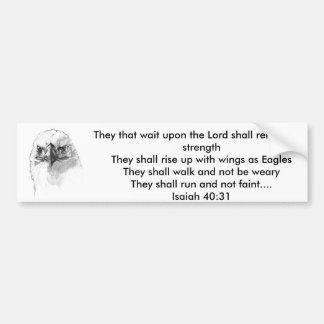 Isaiah 40:31 bumper sticker