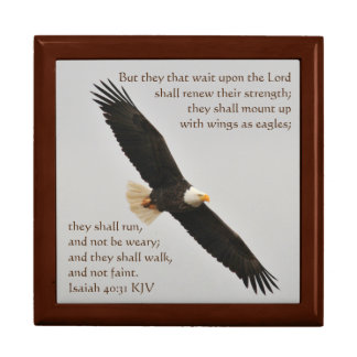 Isaiah 40:31 But they that wait upon the Lord Large Square Gift Box