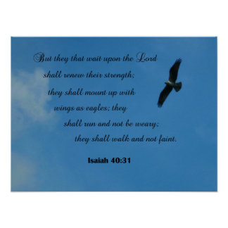 Isaiah 40:31 But they that wait upon the Lord... Poster