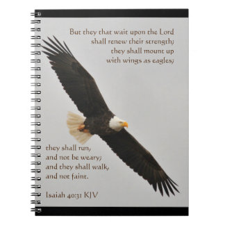 Isaiah 40:31 But they that wait upon the Lord Spiral Notebooks