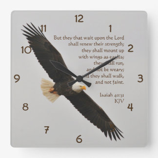 Isaiah 40:31 But they that wait upon the Lord Wallclocks