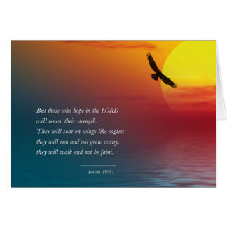 Isaiah 40:31 Eagle Soaring Courage verse Bible Card