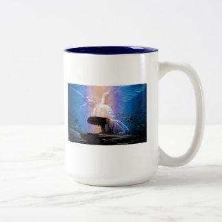 Isaiah 40:31 Praying Angel Two Tone Coffee Mug,