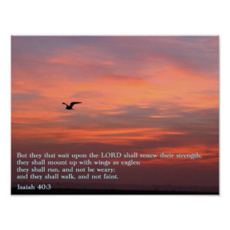 Isaiah 40:3 Sunrise Poster