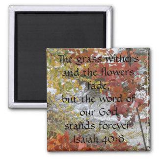 Isaiah 40:8 magnet