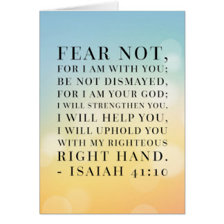 Isaiah 41:10 Bible Quote Card