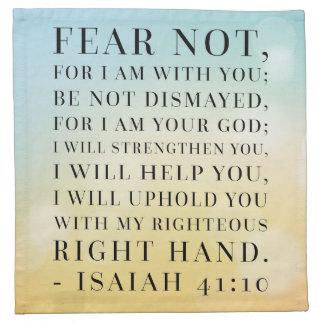 Isaiah 41:10 Bible Quote Cloth Napkins