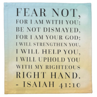 Isaiah 41:10 Bible Quote Napkin