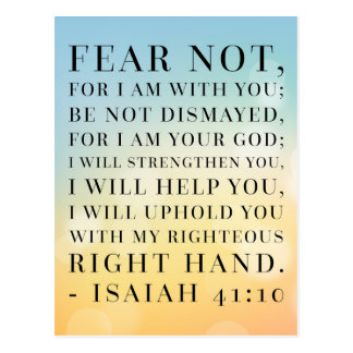 Isaiah 41:10 Bible Quote Postcard