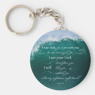 Isaiah 41 10 Bible Verse Button Keychain