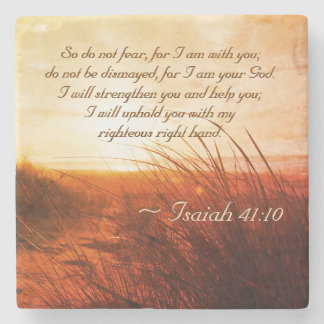 Isaiah 41:10 Bible Verse Do not fear I am with you Stone Coaster