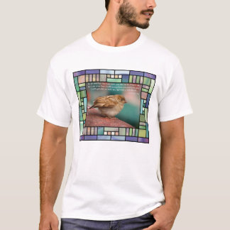 Isaiah 41:10 Bible Verse With Bird Stained Glass T-Shirt