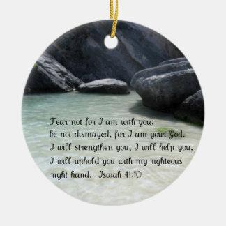Isaiah 41:10 christmas ornament
