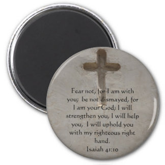 Isaiah 41:10 Inspirational Bible Verse 6 Cm Round Magnet