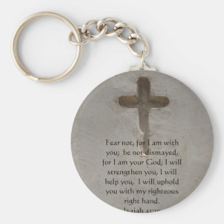 Isaiah 41:10 Inspirational Bible Verse Basic Round Button Key Ring