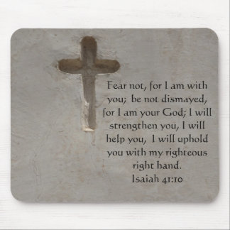 Isaiah 41:10 Inspirational Bible Verse Mouse Mat
