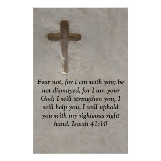 Isaiah 41:10 Inspirational Bible Verse Stationery
